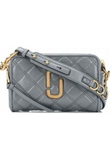 Marc Jacobs Bolsa Transversal The Quilted Softshot 21 - Cinza