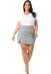 Shorts Saia Feminino Xadrez Plus Size - Confidencial Extra - Kanui
