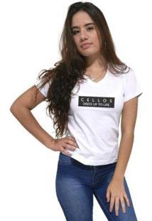 Camiseta Gola V Cellos To Life Premium Feminina - Feminino