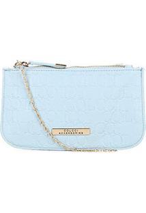 Bolsa Colcci Mini Bag Tiracolo Alça Corrente Placa Feminina - Feminino-Azul