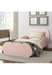 Mini Cama Algodão Doce Com Colchão 150Cmx70Cm 100% Mdf Multimóveis Rosa