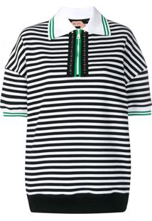 c9432ae8bd8b2 Camisa Pólo Curta Preta feminina