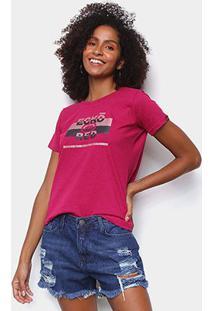 Camiseta Ecko Red Stripes Feminina - Feminino-Pink