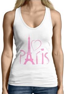 Regata Criativa Urbana Cavada Engraçadas Paris - Feminino