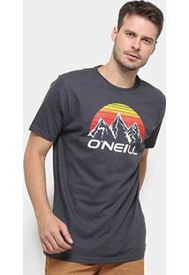 Camiseta O'Neill Moutain Masculina - Masculino-Cinza