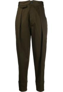 Dsquared2 High-Waisted Cropped Trousers - Verde