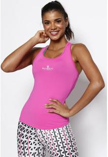 "Regata Nadador ""Physical Fitness®"" - Rosa & Branca -Physical Fitness"
