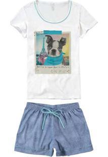 Pijama Feminino Malwee 1000073618 00001-Branco