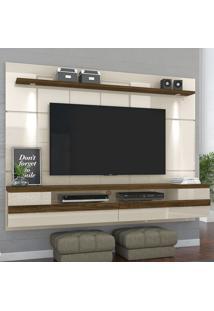 Painel Para Tv 2 Portas Bianca 277122 Off White/Savana - Madetec