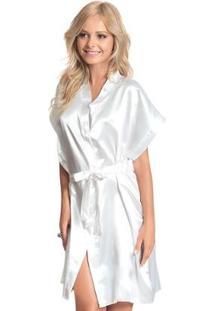 Robe Feminino Adulto Luna Cuore - Feminino-Branco