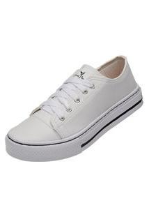 Tênis Sapatenis Casual Feminino Mr Try Shoes Branco