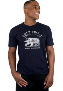 Camiseta Bleed American Free Spirit Marinho