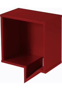 Prateleira Cartoon Quadrada Vermelho Escuro Laca M49