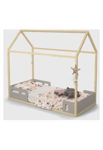 Mini Cama Liv Cinza / Natural