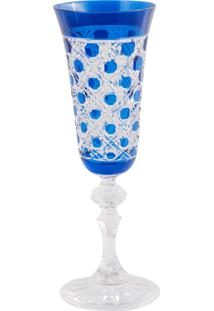 Taça De Cristal Lodz Para Champanhe De 150 Ml Wice