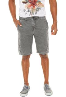 Bermuda Jeans Calvin Klein Jeans Reta Cinza