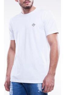 Camiseta Mormaii Básica Leve Lumière Masculina - Masculino-Branco