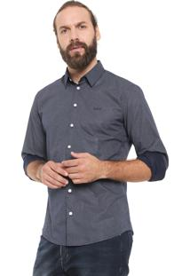 Camisa Colcci Slim Poás Azul-Marinho