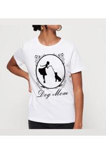 Camiseta Dog Mom Buddies Feminina - Feminino-Branco