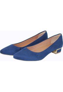 Scarpin Tatiane Moreira Clássico Azul Marinho