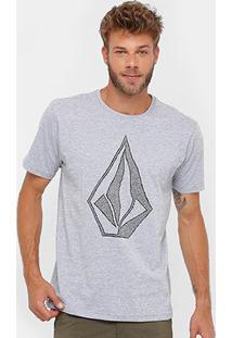 Camiseta Volcom Silk Creep Stone Masculina - Masculino