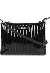 Bolsa Santa Lolla Mini Bag Verniz Matelassê Feminina - Feminino-Preto