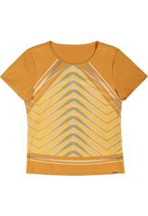 Blusa Com Decote Redondo Amarelo
