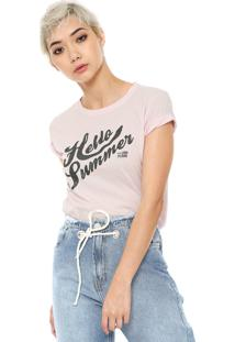 Camiseta Ellus 2Nd Floor Hello Summer Rosa