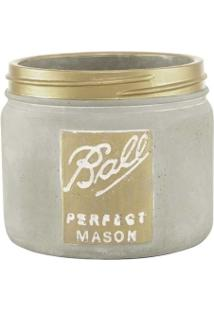 Vaso Em Cimento Vintage Petit Gold