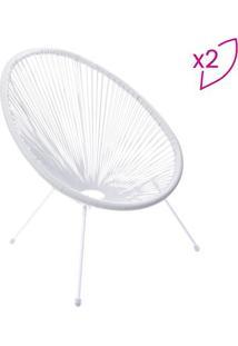 Jogo De Cadeiras Acapulco- Branco- 2Pã§S- Or Desior Design