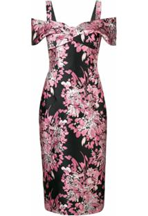 Dolce & Gabbana Vestido Ombro A Ombro De Jacquard Lurex - Rosa