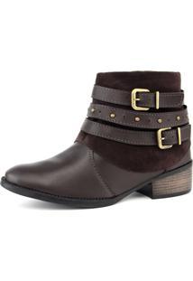 Bota Elegancy Ankle Bootstraps Cafe