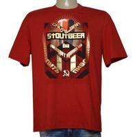eca0f72b3 Camiseta Masc Cavalera Clothing 01.01.9584 Vermelho