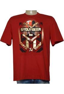 Camiseta Masc Cavalera Clothing 01.01.9584 Vermelho