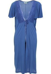 Robe Maternidade Love Secret Renda Azul
