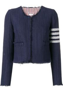 Thom Browne Jaqueta De Tweed Slim - Azul