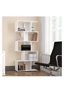 Estante Livreiro 5 Nichos Office Plus Branco Lilies Móveis