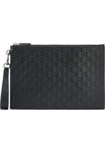 Gucci Gucci Signature Monogram Clutch Bag - Preto