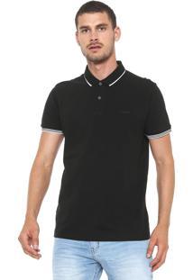 Camisa Polo Sommer Reta Logo Preta