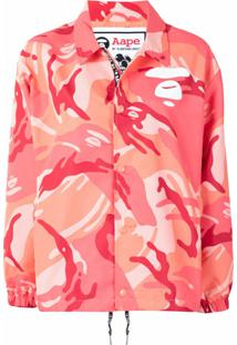Aape By *A Bathing Ape® Jaqueta Com Estampa Camuflada - Rosa