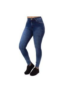 Calça Jeans Skinny Feminina Com Glitter Indy Jeans