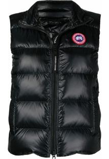 Canada Goose Zip-Up Padded Down Gilet - Preto