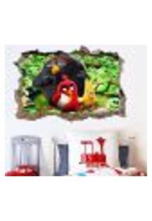 Adesivo Buraco Na Parede Angry Birds - P 47X73Cm