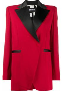 Just Cavalli Blazer Com Detalhe Contrastante - Vermelho