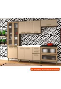 Cozinha Compacta Vitória 10 Pt 5 Gv Capuccino E Avelã