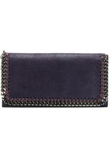 Stella Mccartney Carteira Continental Falabella - Roxo