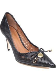 Sapato Scarpin Luz Da Lua Em Couro