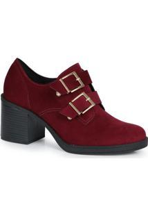 Sapato Salto Conforto Beira Rio Vinho