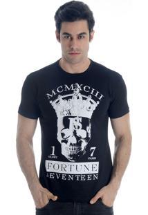 Camiseta Fortune 17 King Skull Preta