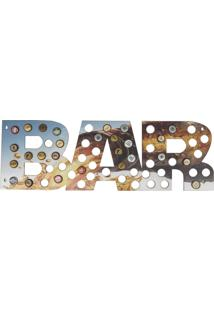 Quadro Porta Tampinhas D'Rossi Mdf Garrafa 25X75 Bar